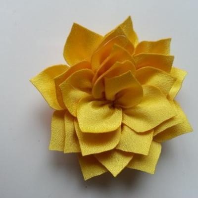 fleur en tissu jaune 70mm