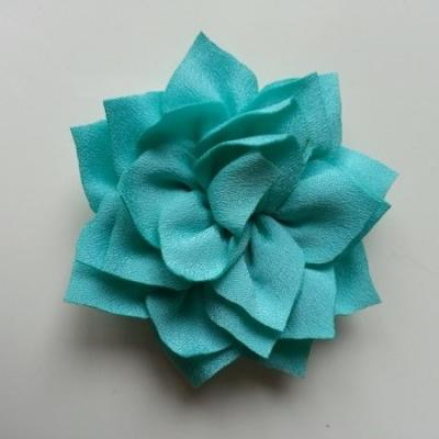 fleur en tissu vert 70mm