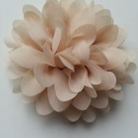 fleur mousseline beige  10cm