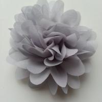 fleur mousseline gris  10cm