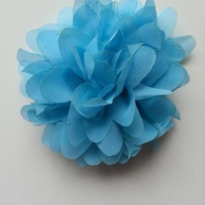 fleur mousseline bleu  10cm