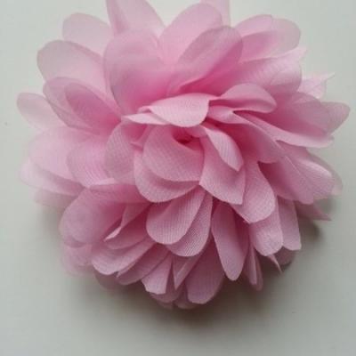fleur mousseline rose  10cm