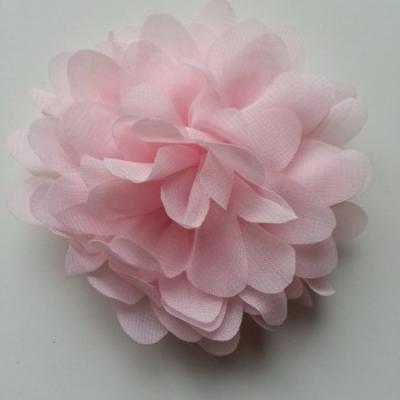 fleur mousseline rose  pâle 10cm