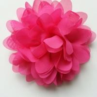 fleur mousseline rose  fuchsia 10cm