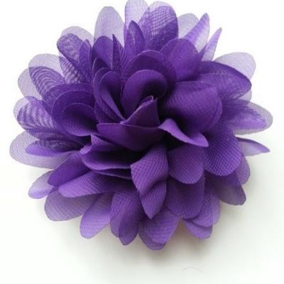 fleur mousseline violet  10cm
