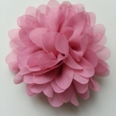fleur mousseline vieux rose  10cm