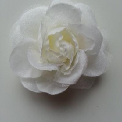 rose  en tissu ivoire 70mm