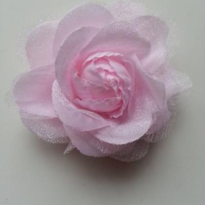 rose  en tissu rose 70mm