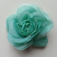 rose  en tissu verte 70mm