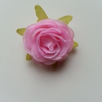rose en tissu rose 40mm