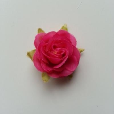 rose en tissu rose fuchsia 40mm