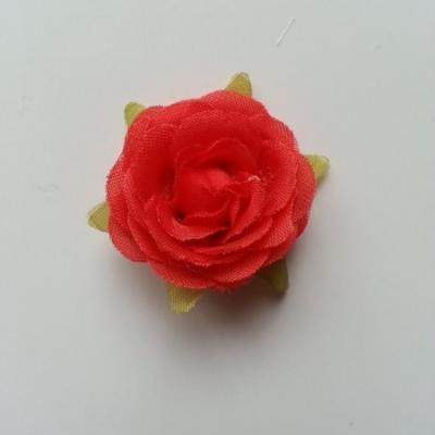 rose en tissu rouge 40mm