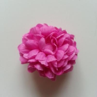 Fleur  pompon en tissu mauve  50mm