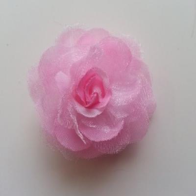 Fleur  en tissu rose 45mm