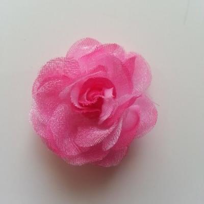 Fleur  en tissu rose fuchsia 45mm
