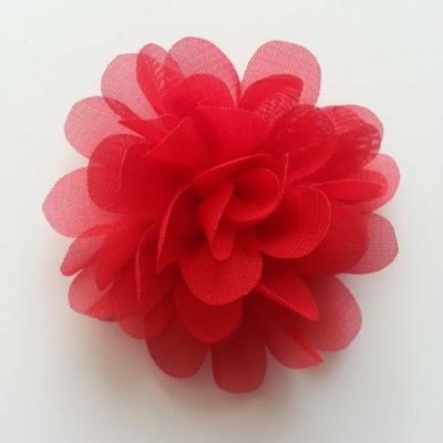 fleur mousseline rouge 60mm