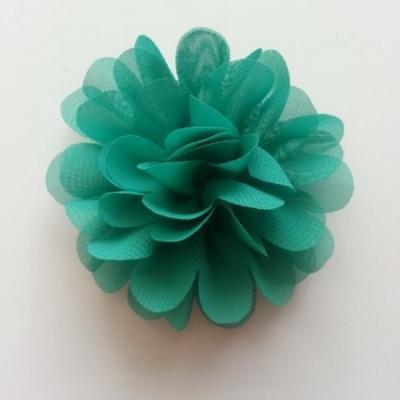 fleur mousseline verte 60mm