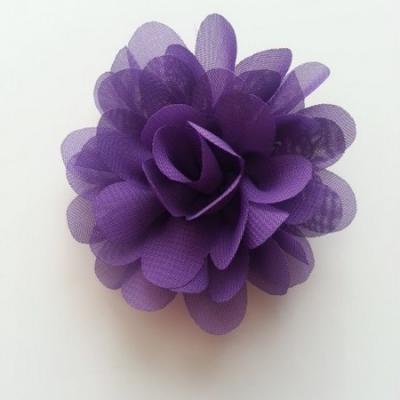 fleur mousseline violet 60mm