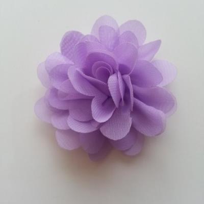 fleur mousseline mauve 60mm