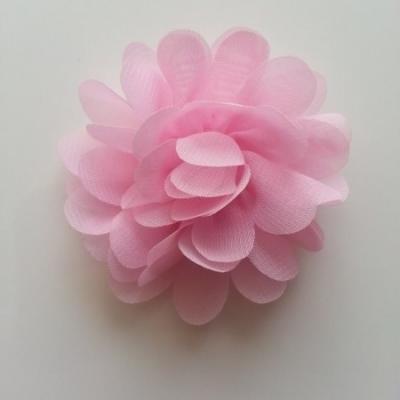 fleur mousseline rose 60mm