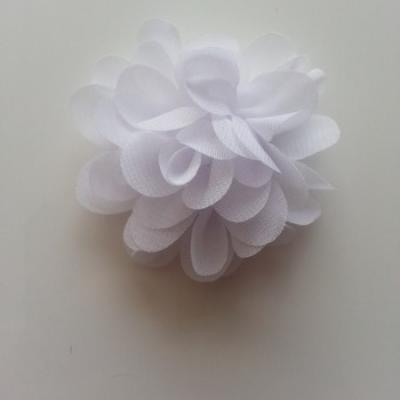 fleur mousseline blanc 60mm
