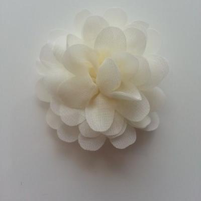 fleur mousseline ivoire 60mm