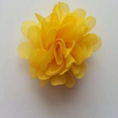 fleur mousseline jaune 60mm