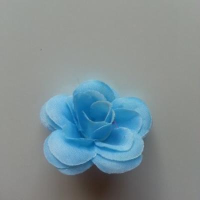 Fleur  artificielle en tissu  40mm bleu