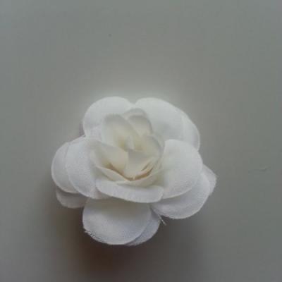 Fleur  artificielle en tissu  40mm ivoire