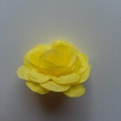 Fleur  artificielle en tissu  40mm jaune