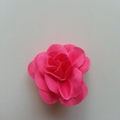 Fleur  artificielle en tissu  40mm rose fuchsia
