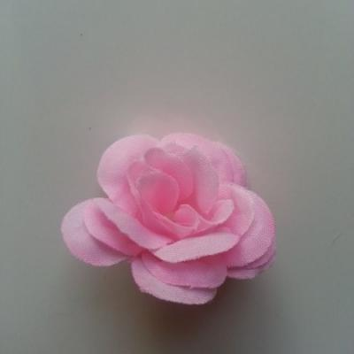 Fleur  artificielle en tissu  40mm rose