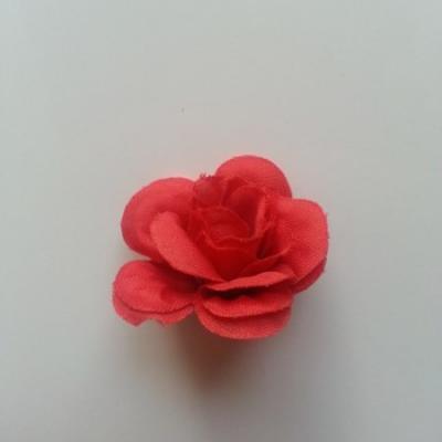 Fleur  artificielle en tissu  40mm rouge