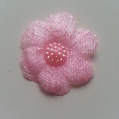 double fleur  voile 45mm rose