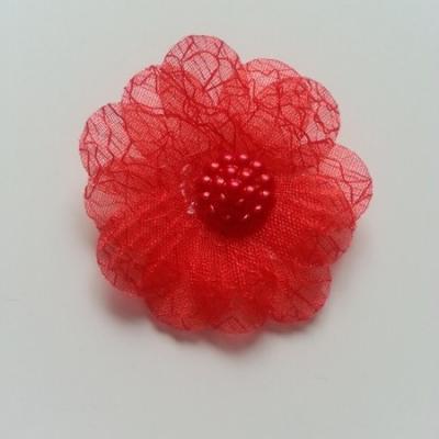 double fleur  voile 45mm rouge