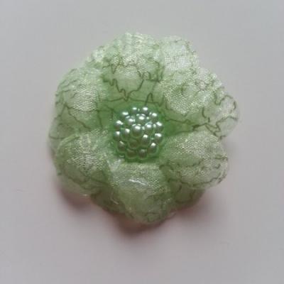 double fleur  voile 45mm vert
