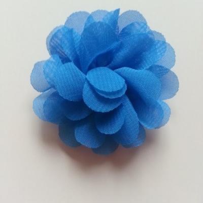 fleur mousseline   50mm bleu roi