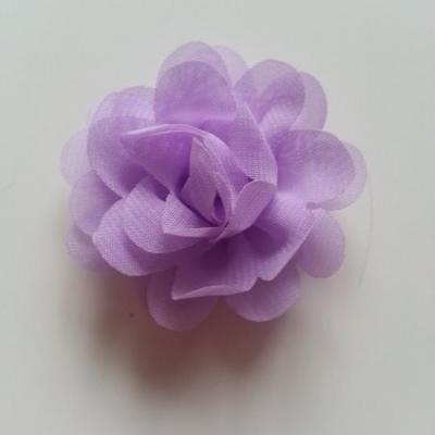 fleur mousseline   50mm mauve