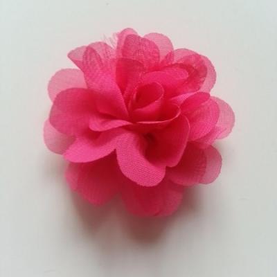 fleur mousseline   50mm rose fuchsia