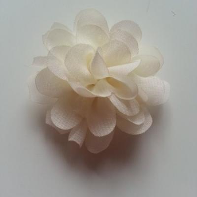 fleur mousseline   50mm ivoire
