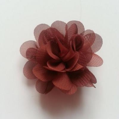 fleur mousseline   50mm marron