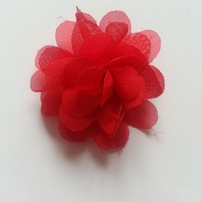 fleur mousseline   50mm rouge