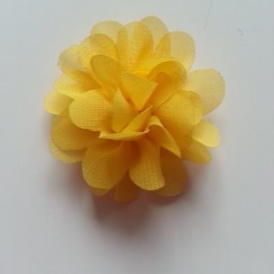 fleur mousseline   50mm jaune poussin