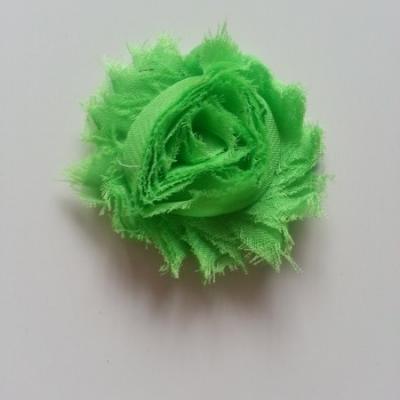 Applique fleur chabby   65mm vert clair