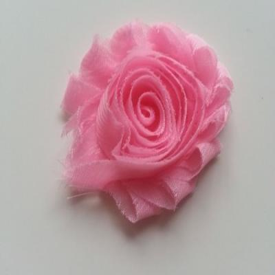 Applique fleur chabby   65mm rose