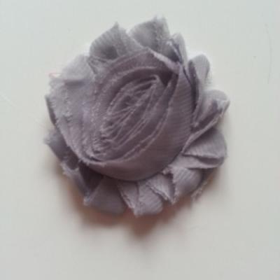 Applique fleur chabby   65mm gris
