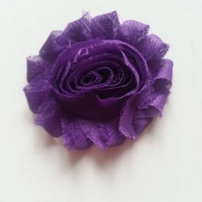 Applique fleur chabby   65mm violet