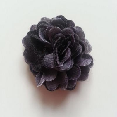 rosette fleur pompom   50mm noir