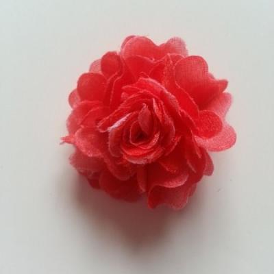 rosette fleur pompom   50mm rouge