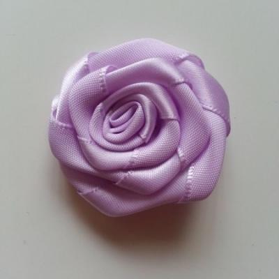 Fleur de satin plate  50mm mauve